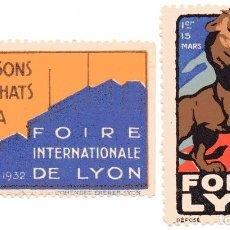 Sellos: M143 FRANCIA LOTE 2 VIÑETAS FERIA / FOIRE DE LYON - 1932. Lote 192826370
