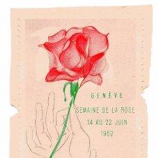 Sellos: M149 SUIZA VIÑETA GENEVE SEMAINE DE LA ROSE 1952. Lote 192828122