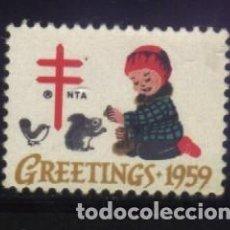 Timbres: S-4822- USA. GREETINGS 1959. PRO TUBERCULOSOS. CRUZ DE LORENA. . Lote 195618241