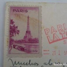 Sellos: PARÍS. FRANCIA. VIÑETA LA TOUR EIFFEL. SOBRE POSTAL REMITIDA EN 1951.. Lote 197794473