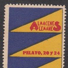 Sellos: VIÑETA - ALMACENES ALEMANES - CALLE PELAYO - BARCELONA. Lote 198928352