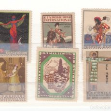 Sellos: 6 VIÑETAS EXPOSICION INTERNACIONAL DE BARCELONA 1929. Lote 200141057