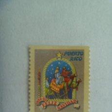 Sellos: VIÑETA DE PUERTO RICO : FELIZ NAVIDAD . 1954 - 55. Lote 261792185