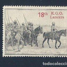 Sellos: F3-1 VIÑETA DE PROPAGANDA 1ª GUERRA MUNDIAL 18TH K.G.O. LANCERS. Lote 205092885
