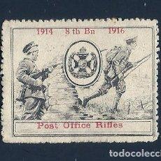Sellos: F3-1 VIÑETA DE PROPAGANDA 1ª GUERRA MUNDIAL 3RD POST OFFICE RIFLES 1914 - 1916. Lote 205094162
