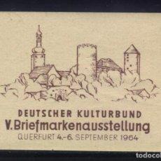 Sellos: S-4931- DEUTSCHER KULTURBUND. QUERFURT 1964.. Lote 205725731