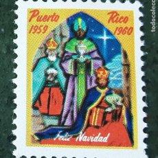 Timbres: VIÑETA FELIZ NAVIDAD PUERTO RICO 1959-1960. Lote 124463210