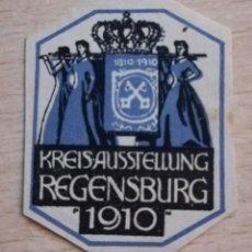 Sellos: VIÑETA KREISAUSSTELLUNG REGENSBURG 1910.ALEMANIA. Lote 210355115
