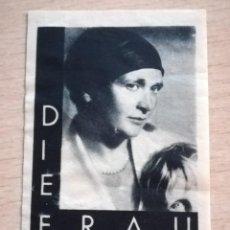 Sellos: VIÑETA DIE FRAU, BERLIN 1933.ALEMANIA. Lote 210355873