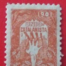 Sellos: SELLO VIÑETA UNION CATALANISTA, AÑO 1901. Lote 217173765