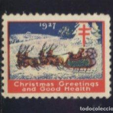 Sellos: S-5451- USA. CHRISTMAS GREETINGS 1927. PRO TUBERCULOSOS. CRUZ DE LORENA.. Lote 218232940