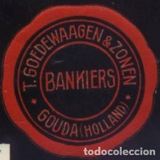 Sellos: S-5519- BANKIERS. GOUDA (HOLLAND). Lote 218296486