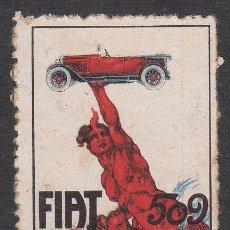 Francobolli: VIÑETA AUTOMOVILISMO - FIAT 509. Lote 220262740