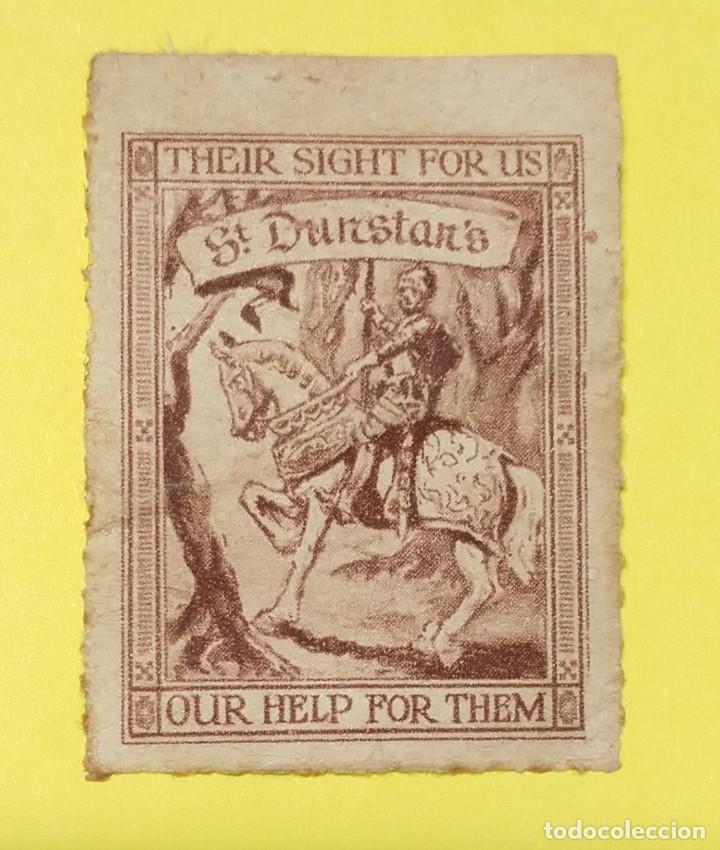 VIÑETA BENÉFICA DE ST. DUNSTAN SU VISTA PARA NOSOTROS NUESTRA AYUDA PARA ELLOS, CIRCA 1915 (Sellos - Extranjero - Viñetas)