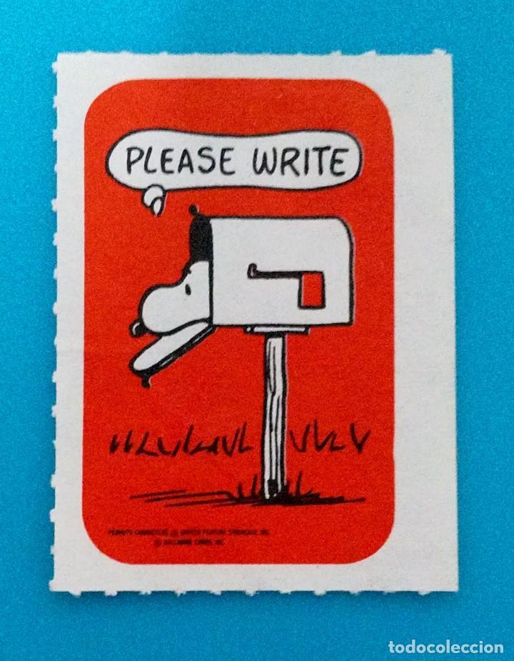 VIÑETA SNOOPY PLEASE WRITE (Sellos - Extranjero - Viñetas)