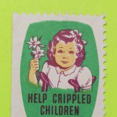 Sellos: VIÑETA ESTADOS UNIDOS AYUDA A LOS NIÑOS LISIADOS, HELP CRIPPLED CHILDREN, CIRCA 1950 NUEVO CON GOMA. Lote 223283136