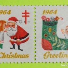 Sellos: VIÑETA ESTADOS UNIDOS CHRISTMAS GREETINGS 1964, NAVIDAD - SALUDOS 1964. Lote 223286002