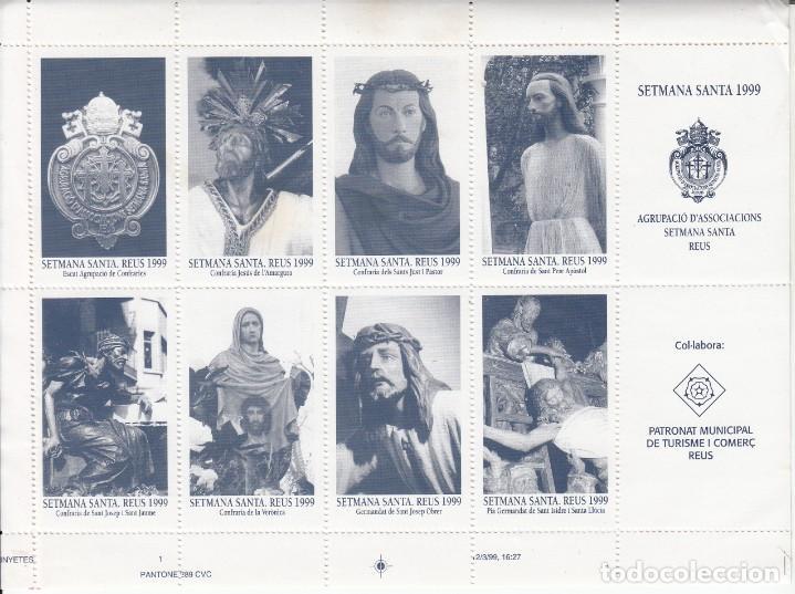 VIÑETAS DE SEMANA SANTA EN REUS - 1999 DENTADAS (Sellos - Extranjero - Viñetas)