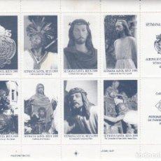 Sellos: VIÑETAS DE SEMANA SANTA EN REUS - 1999 DENTADAS. Lote 230376570