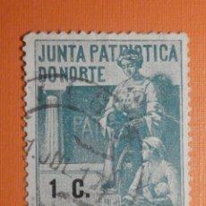 Sellos: VIÑETA - BENEFICENCIA - JUNTA PATRIOTICA DO NORTE - ASSISTENCIA - 1 C. CTS - CÉNTIMO VERDE. Lote 230480150