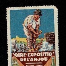 Sellos: CL8 VIÑETA DE LA FOIRE EXPOSITIO DE L'ANJOU 18-29 1930 PUNTO CLARO VER.. Lote 235993045
