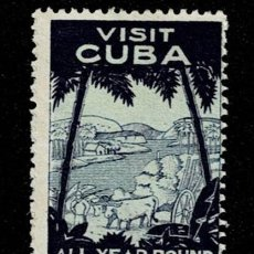 Sellos: CL8-1 CUBA VIÑETA VISIT CUBA ALL YEAR ROUND PARADISE. Lote 235995455