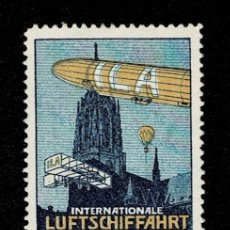 Sellos: CL8-1 VIÑETA DE INTERNATIONALE LUFTSCHIFFAHRT AUSSTELLUNG EXPOSITION AERONAUTIQUE FRANKFURT JULI -. Lote 236010875