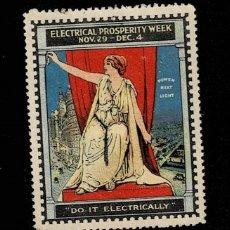Sellos: CL8-1 VIÑETA DE LA ELECTRICAL PROSPERITY WEEK NOV. 29 - DEC. 4 =DO IT ELECTRICALLY=. Lote 236011315