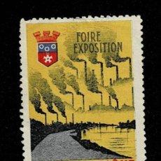 Sellos: CL8-1 VIÑETA DE LA FOIRE EXPOSITION DE CHALON SUR SAONE VILLE DE AFFAIRES VER. Lote 236013260