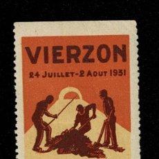 Sellos: CL8-2 VIÑETA DE VIERZON DE LA GRANDE SEMAINE EXPOSITION DES INDUSTRIES ET PRODUITS REGIONAUX 24 JUIL. Lote 236014365