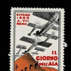 Sellos: CL8-2 VIÑETA DE IL GIORNO DELL'ALA GIUGNO 1930 A. VIII ROMA PUNTO CLARO VER. Lote 236018305