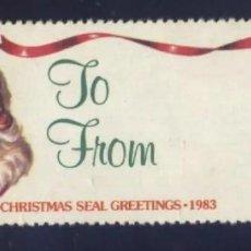 Sellos: S-6395- USA. CRHISTMAS SEAL GREETINGS. 1983. PRO TUBERCULOSOS. CRUZ DE LORENA.. Lote 236727965