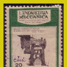 Timbres: VIÑETAS, MILÁN, LA INDUSTRIA MECÁNICA, 20 CTS (O). Lote 241107505