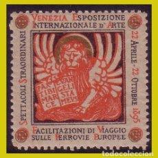 Timbres: VIÑETAS, 1895 VENECIA, EXPOSICIÓN INTERNACIONAL DE ARTE * *. Lote 242831260