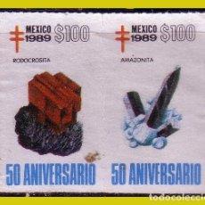 Sellos: VIÑETAS, MÉJICO 1989 LUCHA CONTRA LA TUBERCULOSIS, 2 VIÑETAS * *. Lote 242893070