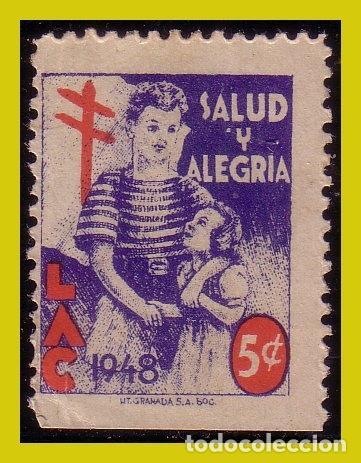 VIÑETAS,1948 LAC, SALUD Y ALEGRÍA (*) 5 CT. (Sellos - Extranjero - Viñetas)