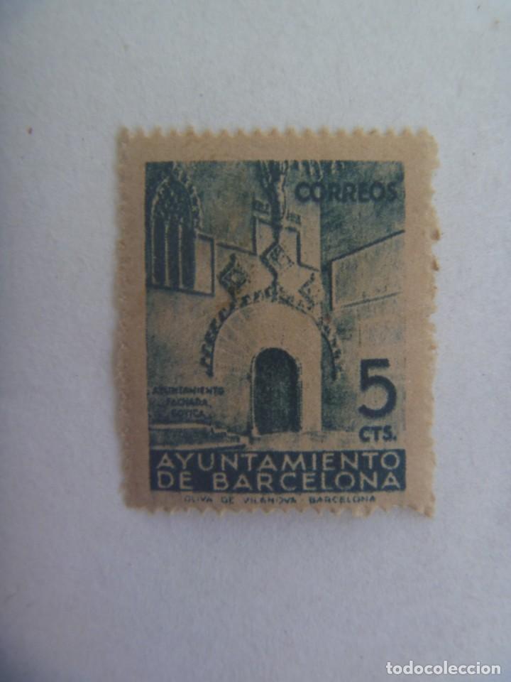 VIÑETA DEL AYUNTAMIENTO DE BARCELONA (Sellos - Extranjero - Viñetas)