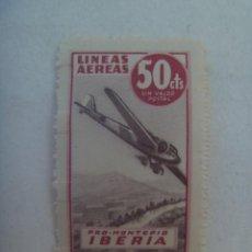 Sellos: VIÑETA LINEAS AEREAS , PRO MONTEPIO DE IBERIA . SIN VALOR POSTAL. Lote 263107935
