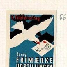 Selos: 66-DINAMARCA VIÑETA 6 FILATELISTDAG BESOG FRIMAERKE UDSTILLINGEN AARHUS 1.2. SEPT. 1934. Lote 264547589