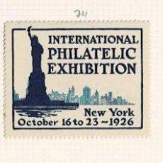 Selos: 74-U.S.A. VIÑETAS INTERNATIONAL PHILATELIC EXHIBITION NEW YORK OCTOBER 16 TO 23 - 1926. Lote 264553799
