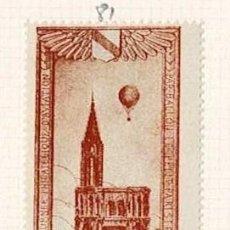 Selos: 81-FRANCIA VIÑETA JOURNEE PHILATELIQUE DAVIATION PAR BALLON LE PETIT PARISIEN - STRASBOURG 12 JUIN. Lote 264554444