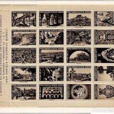 Selos: 86-CATALUNYA VIÑETAS PRIMER CONGRESO CARTO - FILATELICO - MANRESA 1947 COLOR MARRON. Lote 264555139