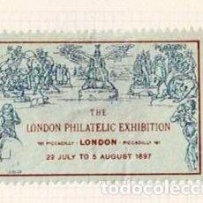 Selos: 127-INGLATERRA VIÑETA THE LONDON PHILATELIC EXHIBITION 22 JULY TO 5 AUGUST 1897. Lote 264696839