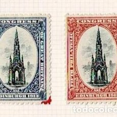Selos: 128-INGLATERRA VIÑETAS FIFTH PHILATELIC CONGRESS OF GREAT BRITAIN EDINBURGH 1913. Lote 264697019