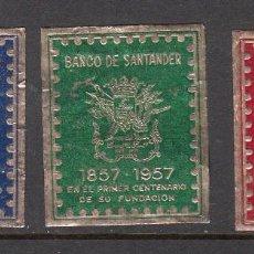 Timbres: VIÑETAS -SERIE DEL CENTENARIO DE LA FUNDACIÓN DEL BANCO DE SANTANDER - 1957. Lote 284397868