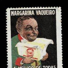 Sellos: F10-13 VIÑETA PUBLICITARIA MARGARINA VAQUEIRO A MELHOR DE TODAS SIN GOMA. Lote 292953728