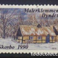 Sellos: S-6616- DINAMARCA. DANMARK. MALERKEMMEN DYNDET. SKOVBO 1990.. Lote 293646558