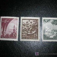 Sellos: YUGOSLAVIA 1952 IVERT 618/20 *** 10º ANIVERSARIO DE LA MARINA DE GUERRA. Lote 20923786