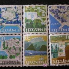 Sellos: YUGOSLAVIA 1963 IVERT 937/42 *** SERIE TURISTICA - PAISAJES. Lote 34445734