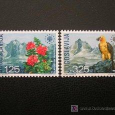 Sellos: YUGOSLAVIA 1970 IVERT 1291/2 * AÑO EUROPEO PROTECCIÓN DE LA NATURALEZA - FAUNA. Lote 17559695